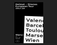 Heimat - Sirenas European Tour