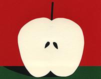 Half Red Apple