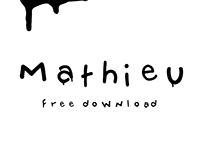 mathieu — typeface