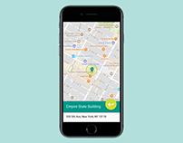 Daily UI Challenge #020: Location Tracker