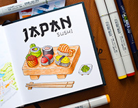 Travel Illustrations / Copic Markers