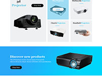 Projector Landing Page