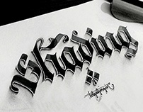 Some Shaded Lettering with Parallelpen&Pencil - Part 1