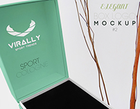 Elegant Box Logo Mockup #2
