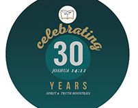 STEM 30th Church Anniversary Button Pin Souvenir
