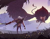 Geralt vs Royal Griffin
