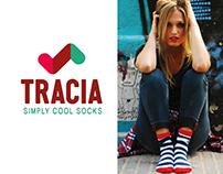 Tracia Socks. Diseño de manual de estilos y web.