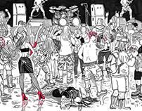 Illustrations for Rockcult magazine