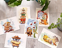 Owl's postcards