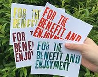 Benefit and Enjoyment Postcards