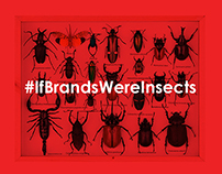 #IfBrandsWereInsects (as featured on DesignTaxi.com)