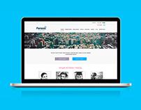 Web design: Parasol Social Project