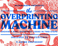 Free Overprinting Machine PSD Template