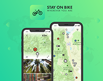Stay on Bike. mobile app for ride and travel