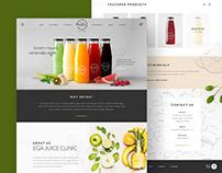 Ega Juice Clinic Website Design