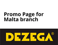 Landing page with catalog filter Dezega.mt