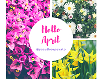 Hello April design