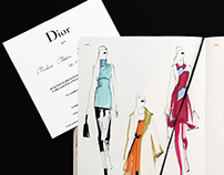 Live sketches from the Dior show