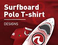 Surfboard & Polo T-shirt Designs