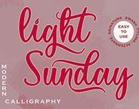 Light Sunday Handwritten Font