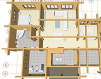 Проект простройки к частному дому из бруса.