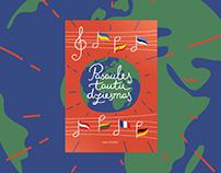 Book Cover - World's Folk Songs for pre-school children