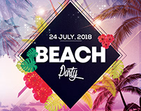 Beach Party - PSD Flyer Template
