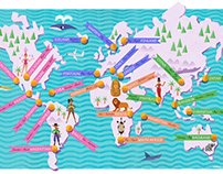 Honeymoon Destinations - Map