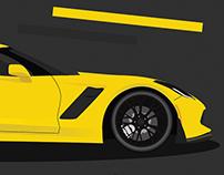 Corvette Z06 - Poster Design