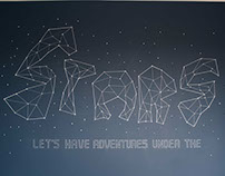 Let's have adventures under the stars - mural