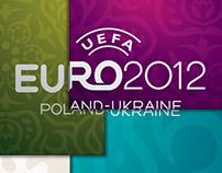Uefa Euro 2012 patterns, palette and illustrations