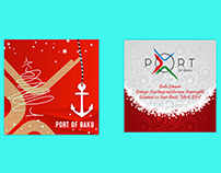 Postcard and Shopping Bag design for Port of Baku