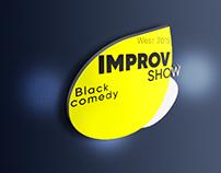 "Logo for the show ""improvisation"" Black humor"