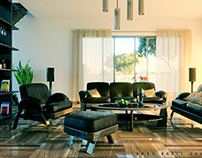 Living room interior concept