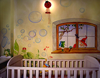 """Childminders"" over the Luke's crib ( Warsaw / Poland )"