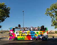 Barcelona Gay Pride Bus