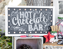 Hot Chocolate Stand - Styled Shoot