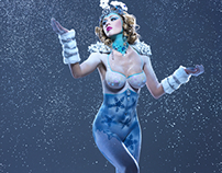 The Snow Queen Bodypainting