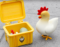 CS:GO Chicken & Crate Figures for Valve