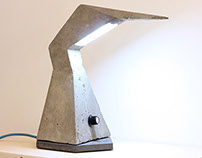 Concrete LED Desk Lamp