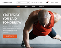 "Sport online shop ""Start today"""