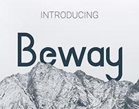 BEWAY- FREE FONT