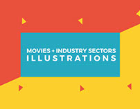 Movies+Industry Sectors Illustrations