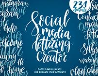 Social Media Lettering Creator
