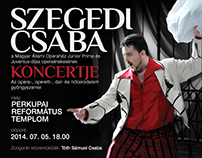 Ads for the opera concert of Csaba Szegedi - 2014
