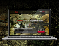Landing page for military clothes shop