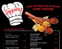 Topping Expectations Menu