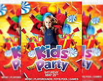 Kids Party - Premium Flyer Template + Facebook Cover
