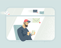 Illustrations for Yandex.Mail
