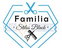 """Logotipo desenvolvido para """"Familia Stilos Black""""."""